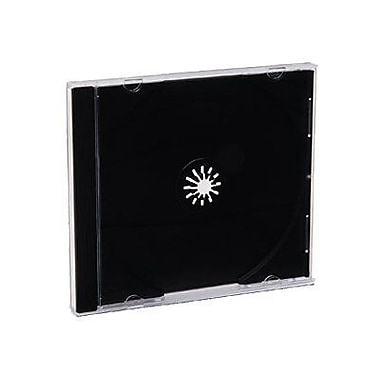 Verbatim® CD and DVD Jewel Storage Cases, Clear Top Black Tray, 200/Pack