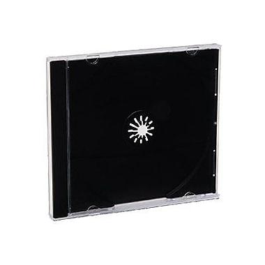 Verbatim® CD and DVD Jewel Storage Cases, Clear Top Black Tray, 200/Pack