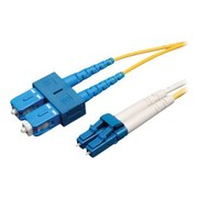 Tripp Lite 16' Duplex SMF LCM to SCM Patch Cable, Yellow