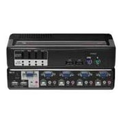 Avocent® SwitchView™ 4SVPUA20-001 Multimedia KVM Desktop Switch, 4 Ports