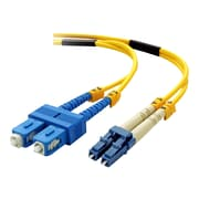 Belkin™ F2F802L7 5 m LC/SC Male/Male Duplex 8.3/125 Singlemode Fiber Optic Patch Cable, Yellow