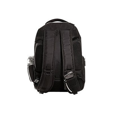 Eco Style Sports Voyage Black/Platinum Ballistic Nylon Backpack for 16.4
