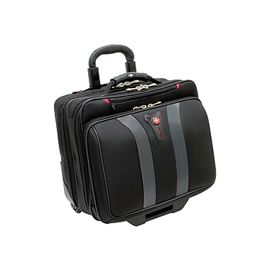 SwissGear® Black Polyester Granada Rolling Case for 17