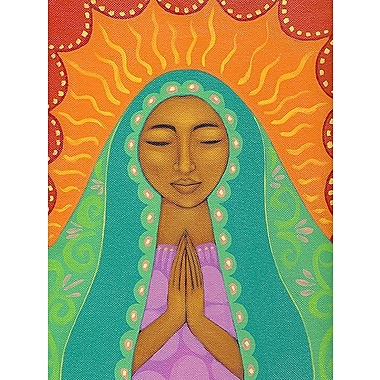 Printfinders Virgin de Guadalupe by Tamara Adams Painting Print on Canvas; 24'' x 18''
