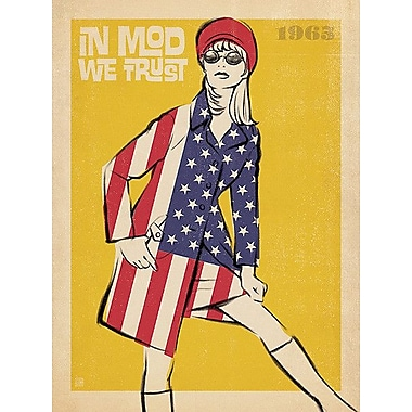 Printfinders In Mod We Trust by Anderson Design Group Graphic Art on Canvas; 32'' x 24''