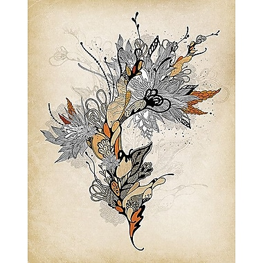 Printfinders Floral 1 by Iveta Abolina Graphic Art on Canvas; 14'' x 11''