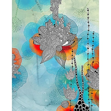 Printfinders Coral by Iveta Abolina Graphic Art on Canvas; 42'' x 33''