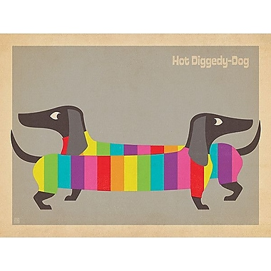 Printfinders Mod Rainbow Dogs by Anderson Design Group Graphic Art on Canvas; 24'' x 32''