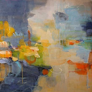 Printfinders Restless Mind by Lina Alattar Painting Print on Canvas; 16'' x 16''