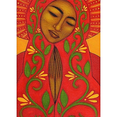 Printfinders Red Madonna by Tamara Adams Painting Print on Canvas; 28'' x 20''