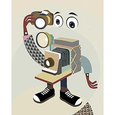 Printfinders Retro Camera II by Lanre Adefioye Graphic Art on Canvas; 30'' x 24''