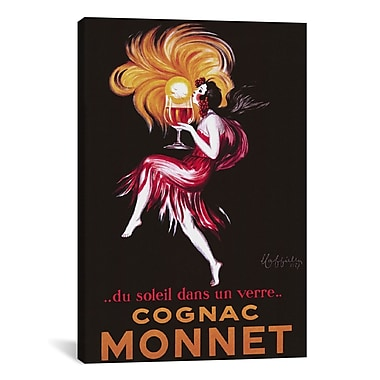 iCanvas Cognac Monnet Vintage Advertisement on Canvas; 26'' H x 18'' W x 1.5'' D