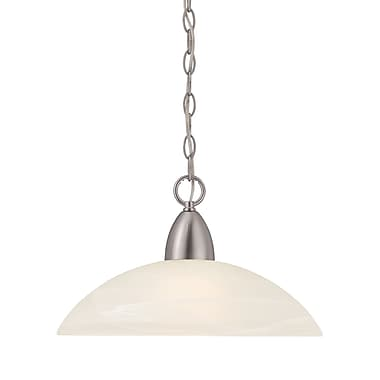 Designers Fountain Torino 1-Light Mini Pendant; Brushed Nickel