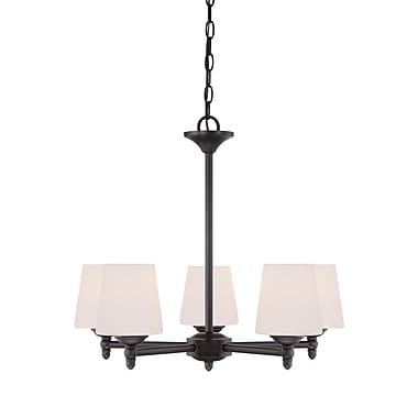 Designers Fountain Darcy 5-Light Shaded Chandelier; Oil Rubbed Bronze