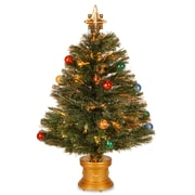 National Tree Co. Fiber Optics Fireworks 2'' 8'' Green Artificial Christmas Tree w/ Multicolor Light