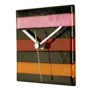 River City Clocks Square Glass Stripe Wall Clock; Warm