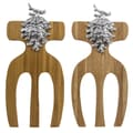 Thirstystone Pine Cone Bamboo Salad Hands (Set of 2)