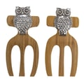 Thirstystone Owl Bamboo Salad Hands (Set of 2)