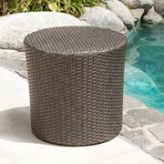 Home Loft Concept Newman Wicker Barrel Side Table