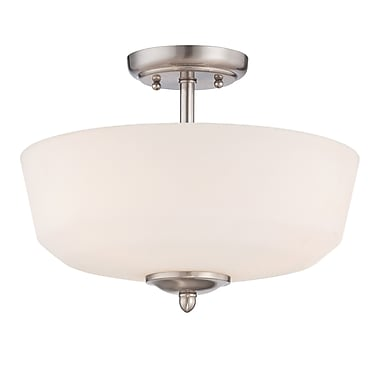 Designers Fountain Darcy 3 Light Semi-Flush Mount; Brushed Nickel