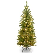 Kingswood 4.5'' Pencil Fir Artificial Christmas Tree w/ 150 Clear Incandescent Lights