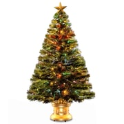 National Tree Co. Fiber Optics Radiance Fireworks 4' Green Artificial Christmas Tree w/ Base