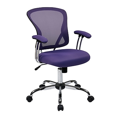 Office Star Ave Six 17.5'' Mesh Juliana Task Chair with Mesh Seat; Purple