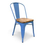 Aeon Furniture Industrial Classics Garvin Side Wood Chair (Set of 2); Blue