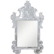 Elegant Lighting Murano Wall Mirror; Silver
