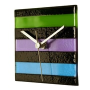 River City Clocks Square Glass Stripe Wall Clock; Cool