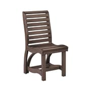 CR Plastic Products St Tropez Dining Side Chair; Chocolate