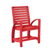 CR Plastic Products St Tropez Dining Arm Chair; Red