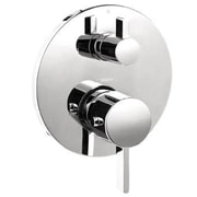 Hansgrohe S Thermostatic Volume Control and Diverter Faucet Trim with Lever Handle; Chrome