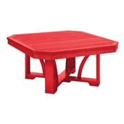 CR Plastic Products St Tropez Coffee Table; Red