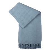 Jovi Home Cocoon Hand Woven Cotton Throw Blanket; Blue