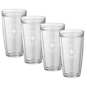 Kraftware Compass Point Everyday Tumbler (Set of 4); 22 oz.