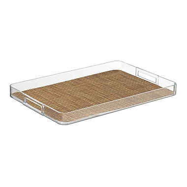 Kraftware Woven 19'' Handled Rectangle Serving Tray; Sienna
