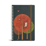 "Bookjigs Hard-cover Spiral-Bound Notebook, 8"" x 5"", Midnight Snack"