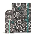 Bookjigs Spiral-Bound Series Iron Blossoms Notebook & Bookmark Set