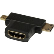 StarTech HDACDFMM HDMI to Mini HDMI/Micro HDMI Combo Adapter, Black