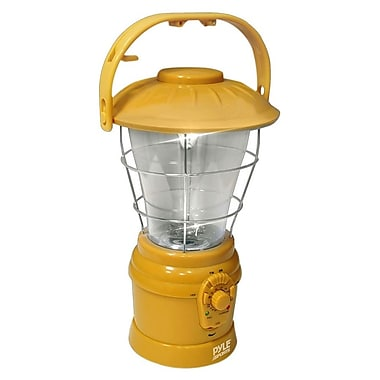 Pyle® Multi Function Hand Crank Torch Lantern With AM/FM Radio, Yellow