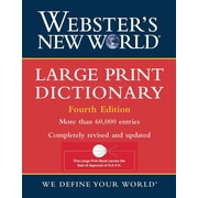 Webster's New World Large Print Dictionary
