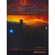 A First Course in Differential Equations: With Modeling Applications