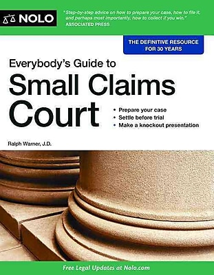 Everybody's Guide to Small Claims Court 1273169