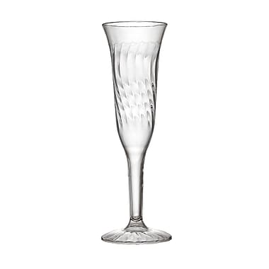 Fineline Settings Flairware 2106 Champagne Flutes, Clear
