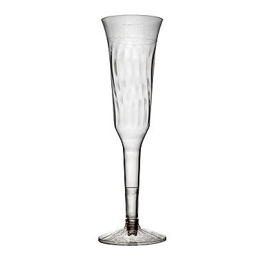 Fineline Settings Flairware 2105 Champagne Flutes, Clear