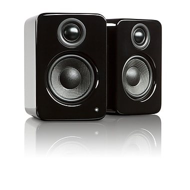 Kanto YU2 Powered Desktop Speakers, Gloss Black