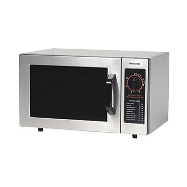 Panasonic NE-1024 1000 Watt Commercial Microwave Oven with Dial Timer - 120V