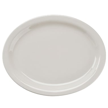 World® Tableware 840-530N-18 Porcelana NR Oval Platter - 12 / CS