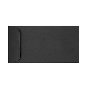 LUX Peel & Press 6 x 11 1/2 Open End Envelopes 1000/Pack, Midnight Black (61112-B-1M)